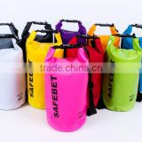 backpack 5L 8L 10L 20L dry tube bag pvc tarpaulin 250D waterproof dry duffel bags                                                                         Quality Choice