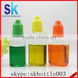 30ml PET rectangle plastic e liquid bottle with child resistant cap and tip from e liquid bottle manufacturer