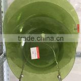 Green solid color clear different size home decor glass charger plates wholesale