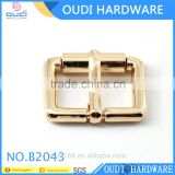 Lady shoe decoration accessories light gold shoe buckle with e coating customized metal buckle