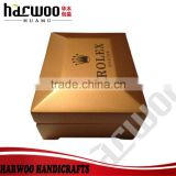 Famous brand gold varnish wooden watch box,Luxury wooden watch box,custom wooden watch box