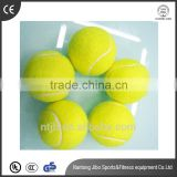 2016 Hot Sell Yellow wool Personalized High Resilience Durable Tennis Ball for exercise and training