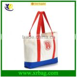 Durable Custom Canvas Cotton Promotional Shopping Tote Beach Bag with Long Handles Shopper bag
