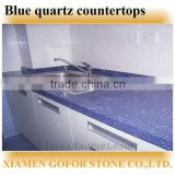 Dark blue quartz countertops