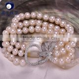 Wholesale aaa freshwater pearl bracelet and necklace set freshwater pearl fresh water pearl bracelet