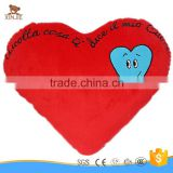 customize plush red heart shape pillow hot sale cheap soft heart shape hug pillow