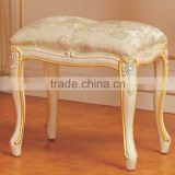 french antique furniture - baroque hand carved leaf gilding dressing stool