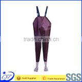 Handmade Kids PVC wader 70D nylon Fabric PVC boots wholesale
