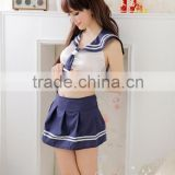 Sexy Lingerie School Girl Sailor Costume Cosplay Uniform Fancy Dress Q11