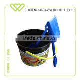 Kids Summer Plastic Beach Sand Pail Bucket With Shovel