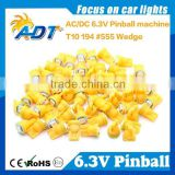 Hot deals AC 6.3V pinball led bulb, T10 w5w #555 smd 1 led bulb for pinball game machine
