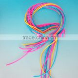 Wholesale food grade ealstic soft flexible colorful customized solid silicone rubber cord