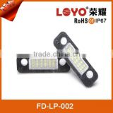 Long life LED license lamp custom license plate frames wholesale