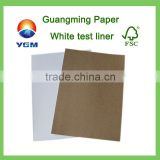 White top kraft liner white top liner paper test liner paper