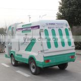New condition fiberglass body electric garbage truck in stock