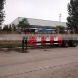 Dual-axle Flatbed container Semi-trailer for transporting container with 12 lock positions
