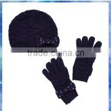 Comfortable and practical fashion scarf / hat /glove set for ladies,knit hat and glove set,beautiful knit scarf glove and hat se