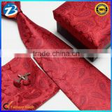 Classical Pasley Design Silk Ties Handkerchief Cufflinks Mens Gifts Sets                                                                         Quality Choice
