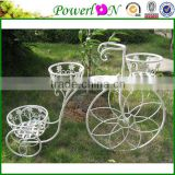 Classical Vintage Antique2 Tier Metal Iron Bicycle Plant Holder For Garden Home Decoration Patio TS05 G00 C00 X00 PL08-4913