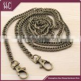 120cm antique bronze chain links purse /handbag/clutch metal chain with straps