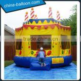 PVC tarpaulin inflatable cake bouncer,inflatable cake castle for sale
