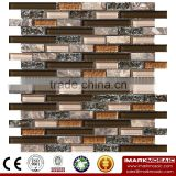 IMARK Mixed Color Crystal Glass Mosaic Tiles Mix Marble Mosaic Tiles for Wall Decoration Code IXGM8-110
