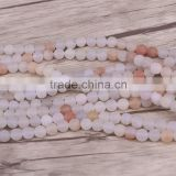 8mm Round Natural stone beads Matte Frosted Colorful Agate Loose beads for Bracelet Necklace Jewelry Making