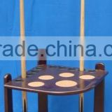 hot seller wooden billiard stand cue rack