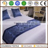 flower pattern bed scarf and pillow for hotel