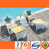 HL6027 Leisure rattan table and chair with 2 seats garden outdoor furniture