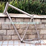 Titanium mountain bicycle frame Ti mtb bike frame with special dropouts customized bike part