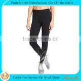 Women compression reflective print tight hidden key pocket adult training pants
