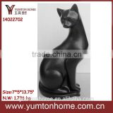 custom resin animal statues show pieces for home decoration,black cat statue for home decor