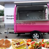 food kiosk cart grilled sausage machine food truck for sale thailand Fried ice cream trailer/Ice cream van/churros food trailer