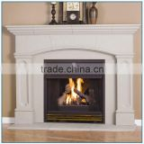 Simple Modern Indoor Hand Carved Stone Marble Fireplace Mantel