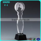 wholesale crystal glass angel trophy for gifts,crystal oscar awards
