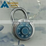 Solid Hardened Steel Shackle Dial Combination Luggage Suitcase Locker Lock Padlock