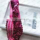 stretch sequin trim coromose headband cute sequin bow elastic band sequin trim by 100 yard