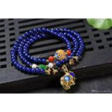 NEFFLY Natural Blue lapis lazul925 Sterling Silver 5mm European Asian Style Beaded Strands Bracelets Elephant Gift Artificial Free Shipping
