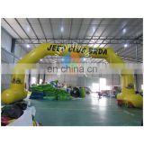 yellow arch, inflatble arch for events