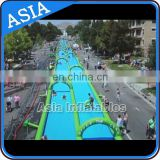 Commercial grade slip N slide for adult with sponge underneath / inflatable water slides / 50m long slide the city