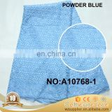 High Quality powder blue dry lace Hot Sale African lace fabric