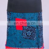 Bohemian Cotton Paychwork Mini Skirt HHCS 108 C