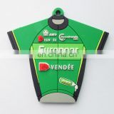 Europcar team jersey shaped soft PVC rubber keychain