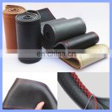 Stylish Circular Smooth Hot Section Special Offer Genuine Leather Car Accessories Hand Sewn Vehicles Steering Wheel Cover