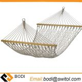 Mesh Hammock Cotton Rope Hammock for Yard Camping Travel