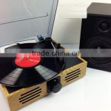 Classic Vintage Design!!! Simple Turntable& Vinyl Record LP& Gramophone with PC Link/3 Speed LP