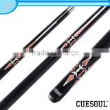 CUESOUL Cheap 1/2 Jointed Pool Cue, Wax Shaft,Quick Release, Rubber Wrap