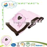 Hot selling cute elephant pink high quality baby blanket