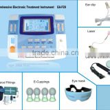 integrated7channels electronic massage therapy with ultrasound,heating,eye care, laser LGHC-33